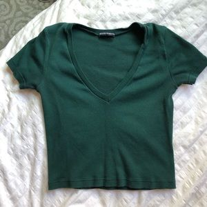Brandy Melville Crop V Neck